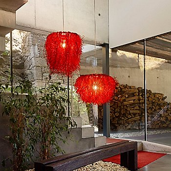 Red / illuminated / in use