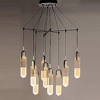 Black with Brushed Aluminum finish / 9 Lights / illuminated