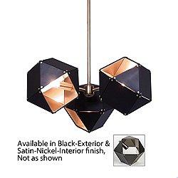 Welles 3 Spoke Pendant Light(Black/Nkl/Copper/6 In)-OPEN BOX