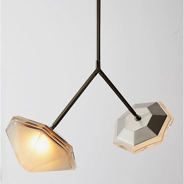Myriad Wishbone Double LED Pendant Light