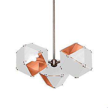 White Exterior / Satin Copper Interior
