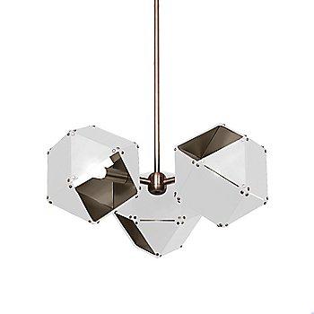 White Exterior / Satin Nickel Interior
