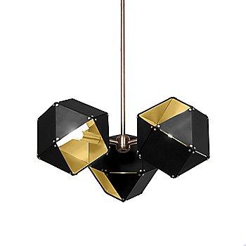 Black Exterior / Satin Brass Interior