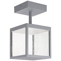 Reveal LED Outdoor Square Semi-Flush Mount Ceiling Light