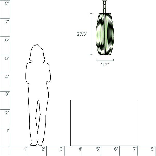 Stecche Di Legno Oval Pendant Light