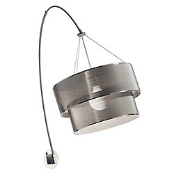 Steel Arc Double Wall Light