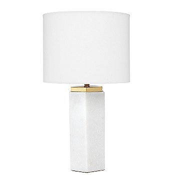 White Marble with Antique Brass