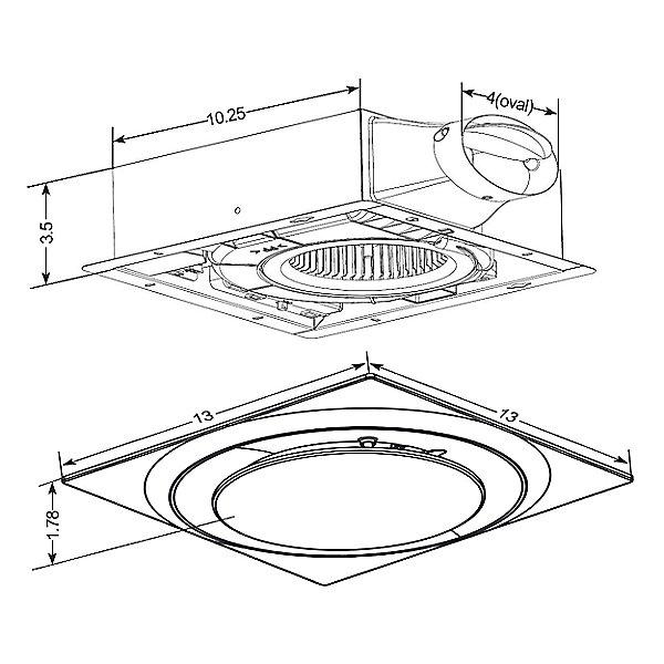 Low Profile Bathroom Exhaust Fan