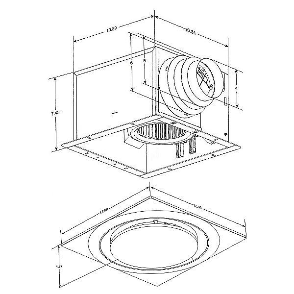 Slim Fit Round Profile Quiet Bathroom Exhaust Fan