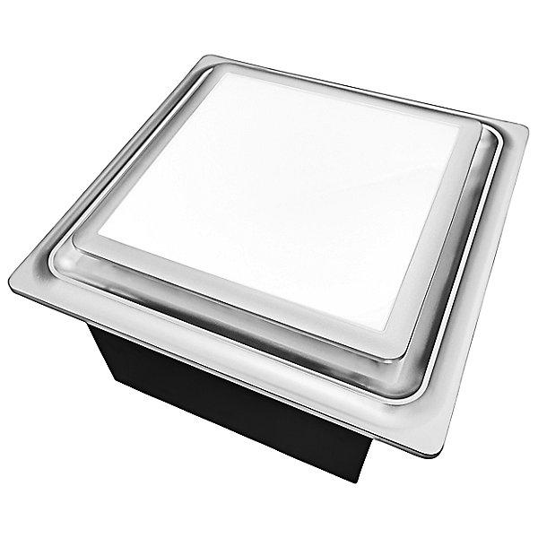 Aero Pure Slim Fit Square Profile Quiet, Modern Bathroom Exhaust Fan With Light