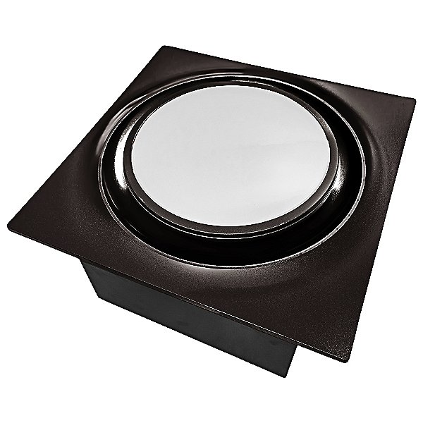 Slim Fit Round Profile Quiet Bathroom Exhaust Fan with LED Light