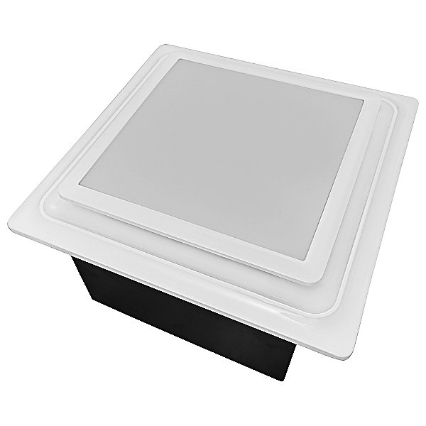 Square Bathroom Exhaust Fan with Adjustable Speed and Humidity Sensor