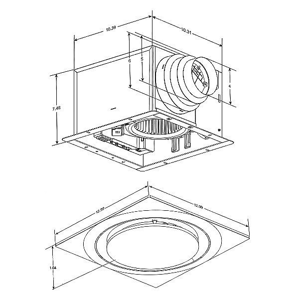 Round Adjustable Speed Bathroom Exhaust Fan with Humidity Sensor