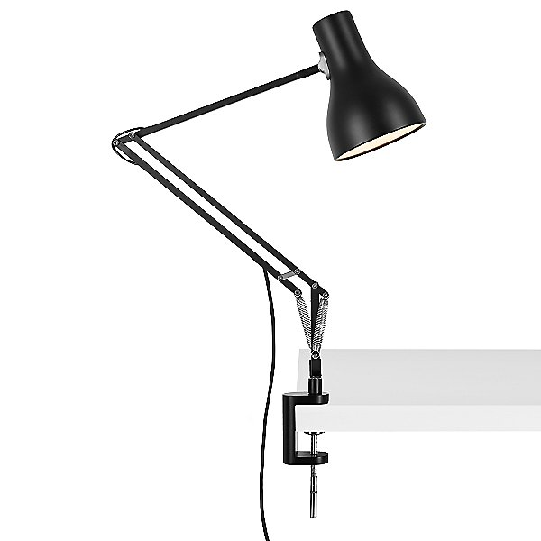 Type 75 Desk Lamp with Clamp Base