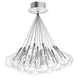 Drop 37 Light Round Multipoint Pendant