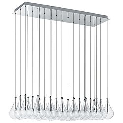 Drop 24 Light Rectangular Multipoint Pendant
