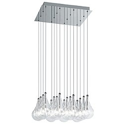 Drop 16 Light Square Multipoint Pendant