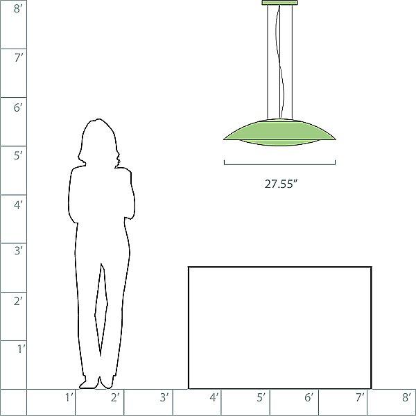 Lens LED Pendant Light