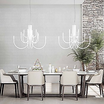 Palm LED Chandelier / in use