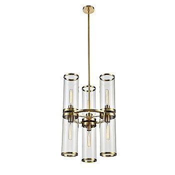 Natural Brass finish / 6 Light Option