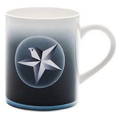Blue Christmas Star/Angel Mug