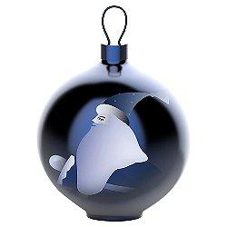 Blue Christmas Santa Claus Ball Ornament