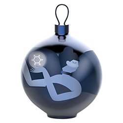Blue Christmas Dancer Ball Ornament