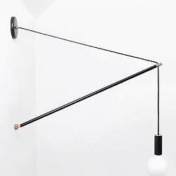 Pennant Wall Light (Black/3 Feet) - OPEN BOX RETURN