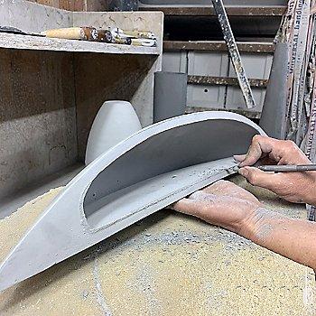 Ceramic shade / in use