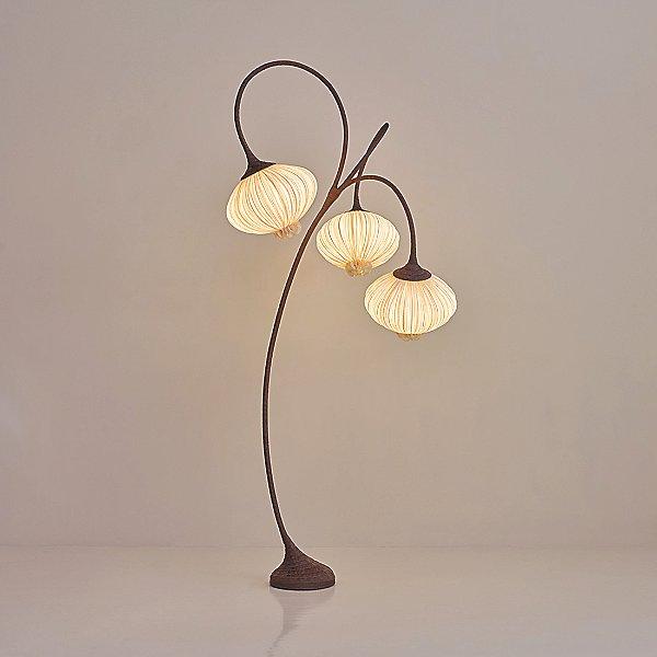 Aqua Creations Palm Tree Led Floor Lamp, Palm Floor Lamp Silver
