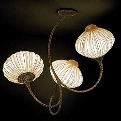 Three Palm Ceiling Light