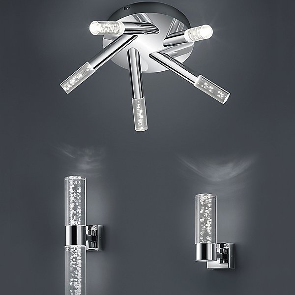 H2O LED Bathroom Flush Mount Ceiling Light
