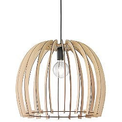 Wood Dome Pendant Light