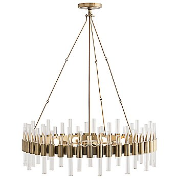 Shown in Polished Nickel finish, with Round shape