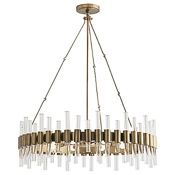 Shown in Antique Brass finish, with Round shape