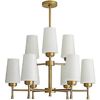 Shown in Antique Brass finish, unlit