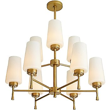 Shown in Antique Brass finish, lit