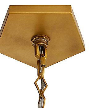 Antique Brass finish, Canopy detail