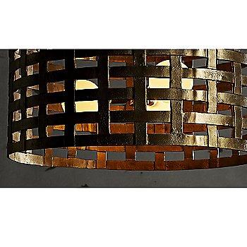 Antique Brass finish, detail