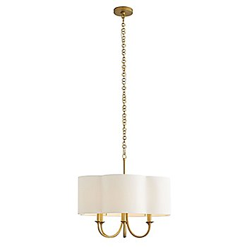 Antique Brass finish / Small size, lit