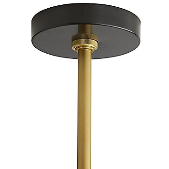 Antique Brass with Bronze finish, Canopy detail