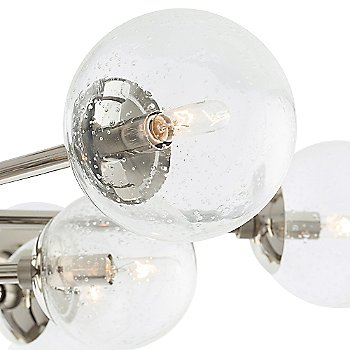 Shown in Polished Nickel with Seedy Glass