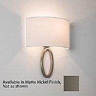 Lima Wall Sconce (Matte Nickel/White) - OPEN BOX RETURN