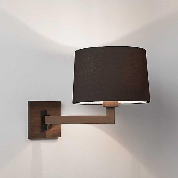 Momo Swing Arm Wall Sconce (Bronze/Black/Round) - OPEN BOX