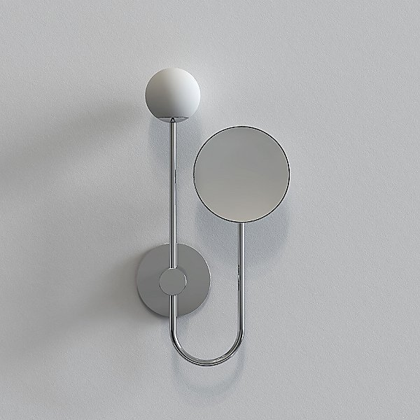 Orb Wall Sconce with Mirror