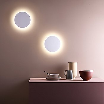 Eclipse Round LED Wall Sconce, in use