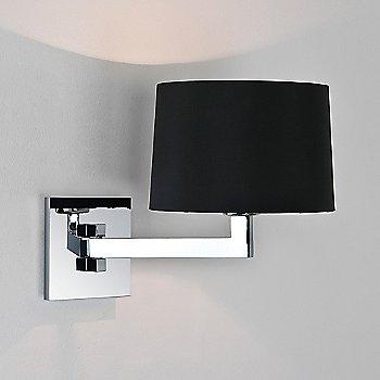Black / Round / Polished chrome Finish