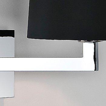 Polished chrome Finish / White / Detail view