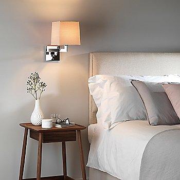 Oyster / Square / Polished Chrome Finish, illuminated