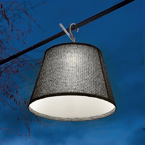 Tolomeo Outdoor Hook LED Flush Mount Ceiling Light